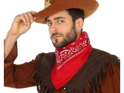 Bandana Rouge Cowboy Accessoire Déguisement Cow Boy Sherif Neuf Pacchetti Alla Moda E Attraenti