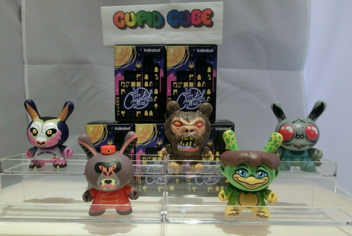 KIDROBOT CITY CRYPTID DUNNY SERIES FIGURE 5 PCS. SET A. freeshipping