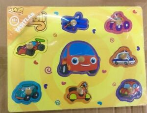 Party-Cars-Wooden-Peg-Puzzle-Educational-Toy-Gift-jl1