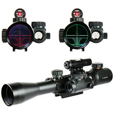 3-9X40 Illuminated Hunting Red/Green Laser Rifle Scope with Holographic Sight