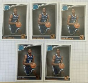 (5 LOT) 2018-19 Donruss Jaren Jackson Jr. RC Rated Rookie RC #188