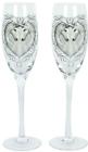 Anne Stokes Pair of Unicorn Champagne Flute Glasses Wedding Valentines Gift
