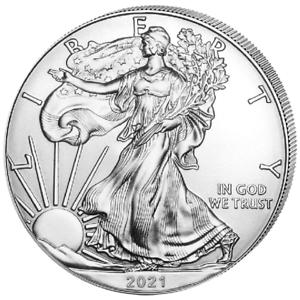 Silber-Eagle-2021-1-OZ-Unze-Ounce-Once-Silver-Argent-USA-US-American-Etats-Unis