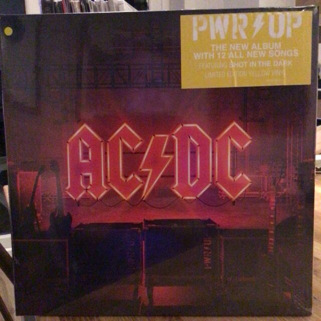 AC/DC - PWR UP Power Up YELLOW COLOURED vinyl LP 13/11/20