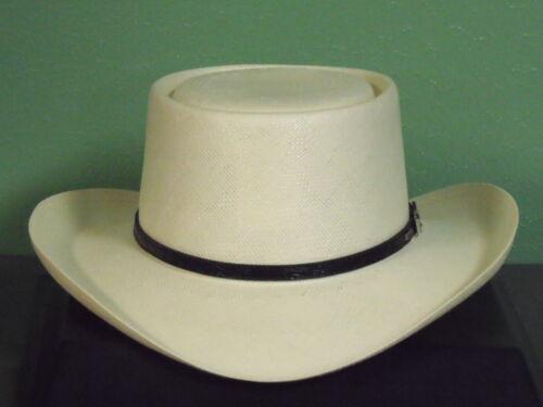 RESISTOL GAMBLER 10X SHANTUNG PANAMA STRAW COWBOY WESTERN HAT