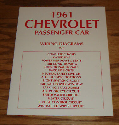 1961 Chevrolet Passenger Car Wiring Diagrams Complete ...