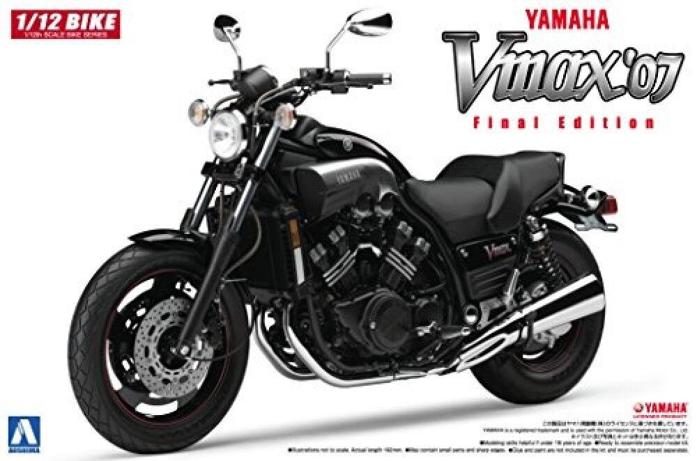 Aoshima 51658 Bike 08 YAMAHA V-Max '07 1 12 Scale Kit Free Shipping From JAPAN