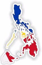 Philippines Map Flag Sticker for Locker Hard Hat Laptop Tablet Fridge Car Bumper