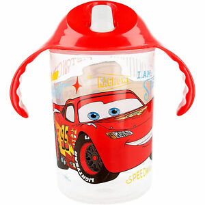 Bicchiere da viaggio per bambino Disney Cars con beccuccio tazza antigoccia 2746