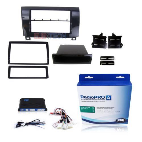 Interface de substituição de Rádio /& Gloss Preto Kit Dash 1 E 2-DIN Com Bolso Para Toyota