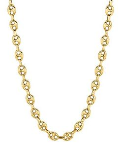 14k-Yellow-Gold-Anchor-Mariner-24-034-chain-necklace-6-9-MM-18-grams