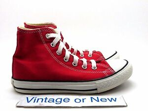27eba24099c111 Image is loading Converse-All-Star-HI-Chuck-Taylor-Red-Canvas-