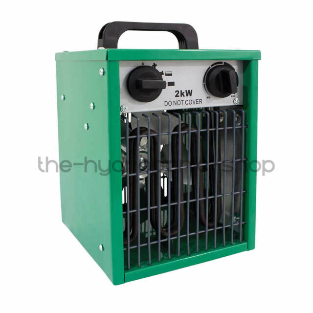 Hydrogarden 2KW Electric Greenhouse Heater Built In Thermostat Hydroponics