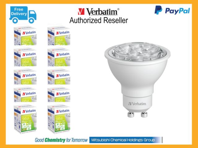 Carton Lots 10 x Verbatim LED Light Globe PAR16 GU10 6 5W 450lm 4000K CW #  64864