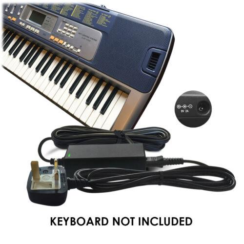 CTK-495 Keyboard Piano CTK-491 DC 9V Power Supply Adapter for Casio CTK-485