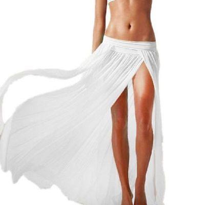 Swimwear Bikini White Beach Cover-Up Long Beach Skirt Women Beach Long Skirt