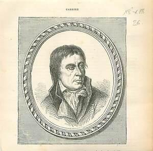 Jean-Baptiste-Carrier-Homme-Politique-FRANCE-GRAVURE-ANTIQUE-OLD-PRINT-1873