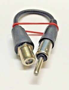 Details about 64-3017 RF adapter F female jack to Motorola (car radio) plug  for police scanner