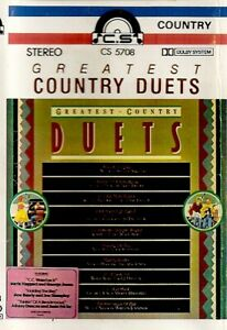 Various-Artists-Greatest-Country-Duets-Import-Cassette-Tape