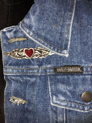 en femme jean Davidson Harley S Sz officiel brodé Débardeur 6RqwTzH