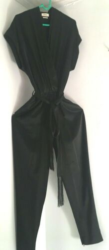 L'AGENCE black draping short sleeve jumpsuit sz 10