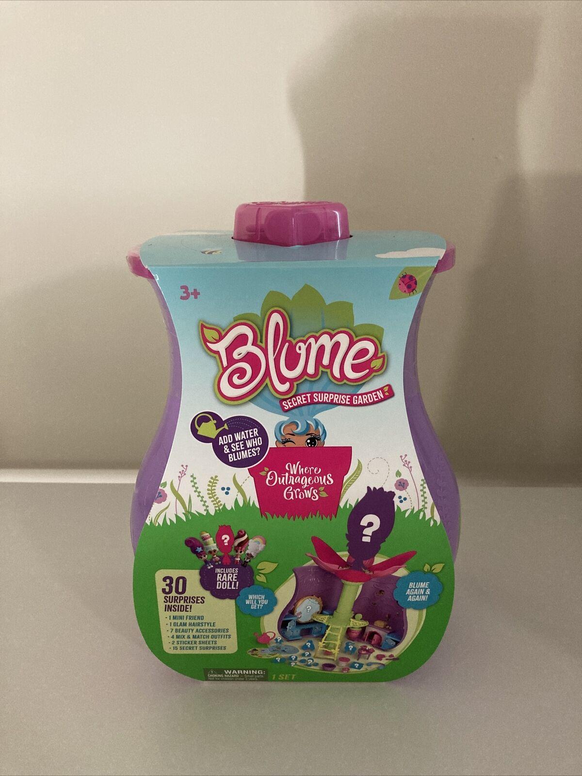 NEW Blume Secret Surprise Garden Toy Game Rare Doll Inside /& 3 Blume Series 1