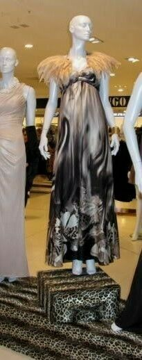 New BIBA silk maxi dress 8 butterfly butterfly butterfly moth print NEW prom ball gown rp grey 260a09