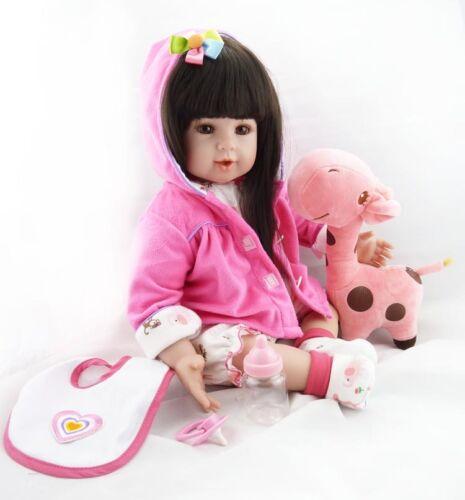 "20/""-Soft-Vinyl-Reborn-Doll-Gift-Baby-Dolls-Lifelike-Baby-Newborn-Handmade Toy"