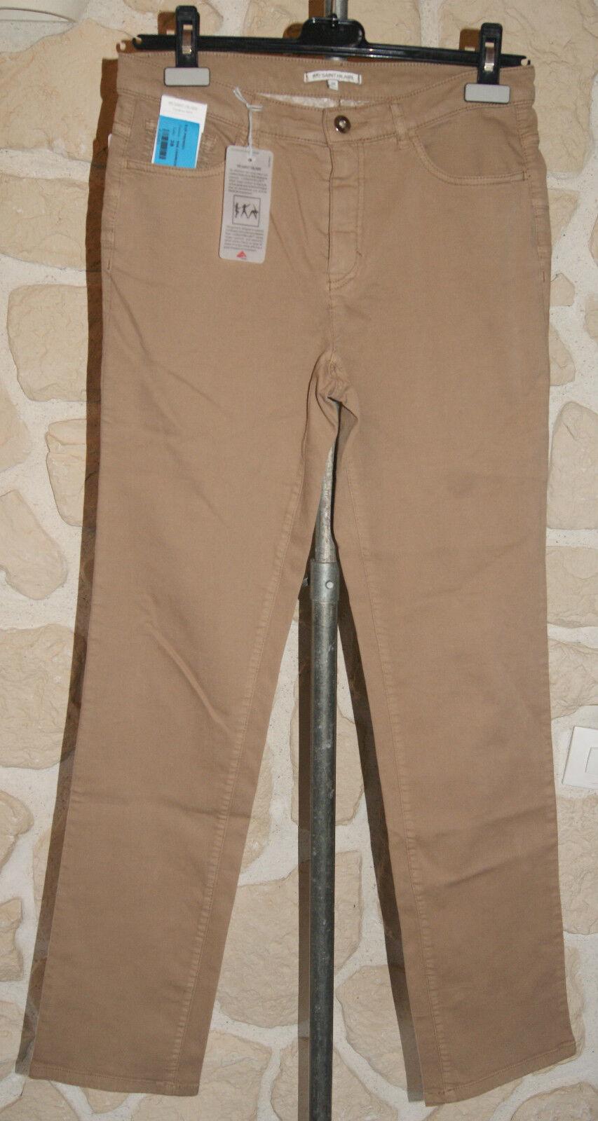 Pantalon chamois neuf Dimensione 44 marque Saint Hilaire regular fit étiqueté à