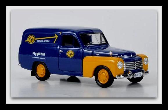 A la venta con descuento del 70%. Maravilloso MODELCoche Volvo PV 445 Duett PANELVAN  ASG ASG ASG  1956-Azul Oscuro -1 43  ahorrar en el despacho