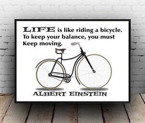 """Albert Einstein Riding a Bicycle Bike poster 24x36/"""""""