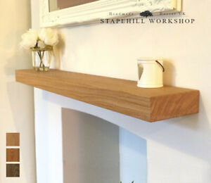 sports shoes 42c67 bd602 Details about Solid Oak Floating Shelf Mantle Beam Fireplace Mantel Shelves  Wood, Free Fixings