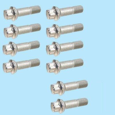 10 Pieces Alloy Wheel Lug Bolts 14x1.5mm For Mercedes w164 w216 w221 Screw Kit