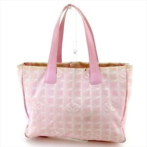 1192c25e3e3b Chanel Tote bag New travel line Pink Gold Woman Authentic Used T5186 ...