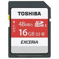 Toshiba Lot of 2 x 16GB = 32GB SD SDHC SDXC Class 10 48MB/s UHS-I Memory Card