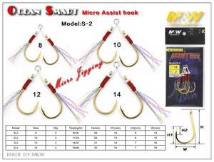 2 packs Tsuribi Double Micro Jigging Assist Hooks Fishing Choose Your Size