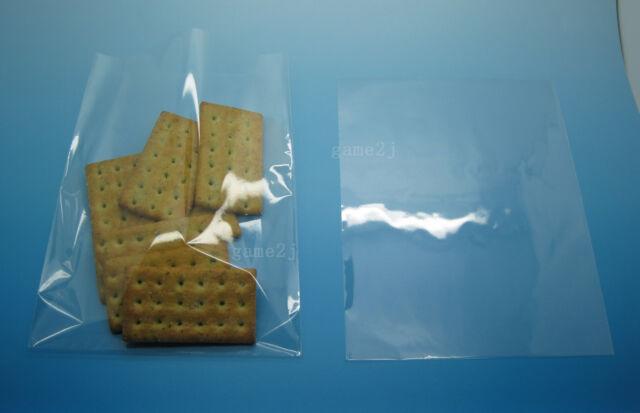 """100PCS 5.2""""x6.8""""(13x17cm) Clear Food Grade Cello Bag Open End For Candy Lollipop"""