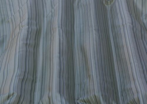 Green/White Vertical Taffeta Stripes 100% Silk Fabric 54 Wide By Yard (SD-706D)