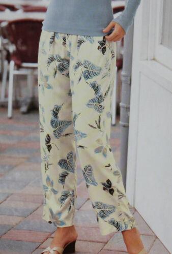Viskosehose Tuch Stoff Hose Sommer Strandhose luftig bequem Damen