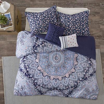 BEAUTIFUL MODERN CHIC BLUE AQUA TEAL PINK NAVY BOHEMIAN COMFORTER SET /& SHEETS