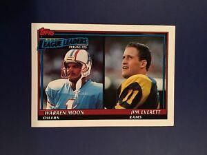 1991-Topps-8-NFL-Passing-Leaders-WARREN-MOON-JIM-EVERETT-Oilers-Rams