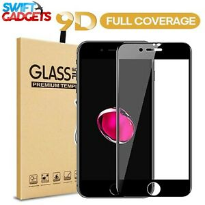 For iPhone 8 7 6 6s PLUS Tempered Glass Screen Protector Full Cover Edge to Edge