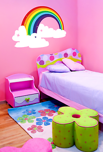 Removable Custom Rainbow Cloud Kids/Nursery Room Wall Decor Decal Vinyl Sticker