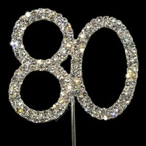 80th-80-DIAMANTE-RHINESTONE-CAKE-TOPPER-CRYSTAL-NUMBER-PICKS-Birthday-Anniversar