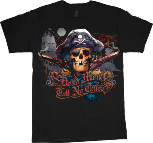 Dead Men Tell No Tales Pirate Skull Graphic Tee Clothing Big /& Tall T-shirt