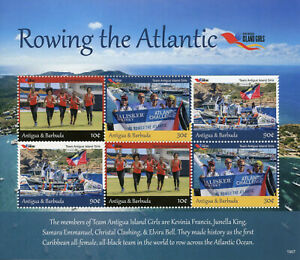 Antigua-amp-Barbuda-2019-MNH-Island-Girls-Definitives-Rowing-6v-M-S-Sports-Stamps
