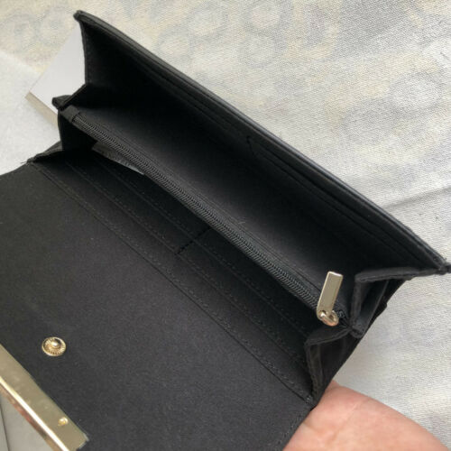 Fashion Women/'s Black Harrods Wallet Faux Leather Somerleyton Quilted Purse
