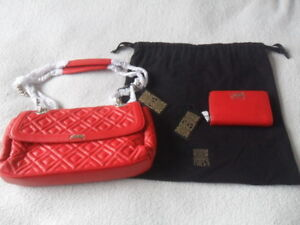 Image Is Loading Biba Lexa Style Red Leather Quilted Shoulder Bag
