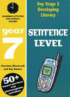 Sentence Level: Year 7: Grammar Activities for Literacy Lessons by Christine Moorcroft, Ray Barker (Paperback, 2003)