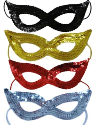 Sequin Eye Mask Super Hero Masquerade Ball Elasticated Comic Book Glitter